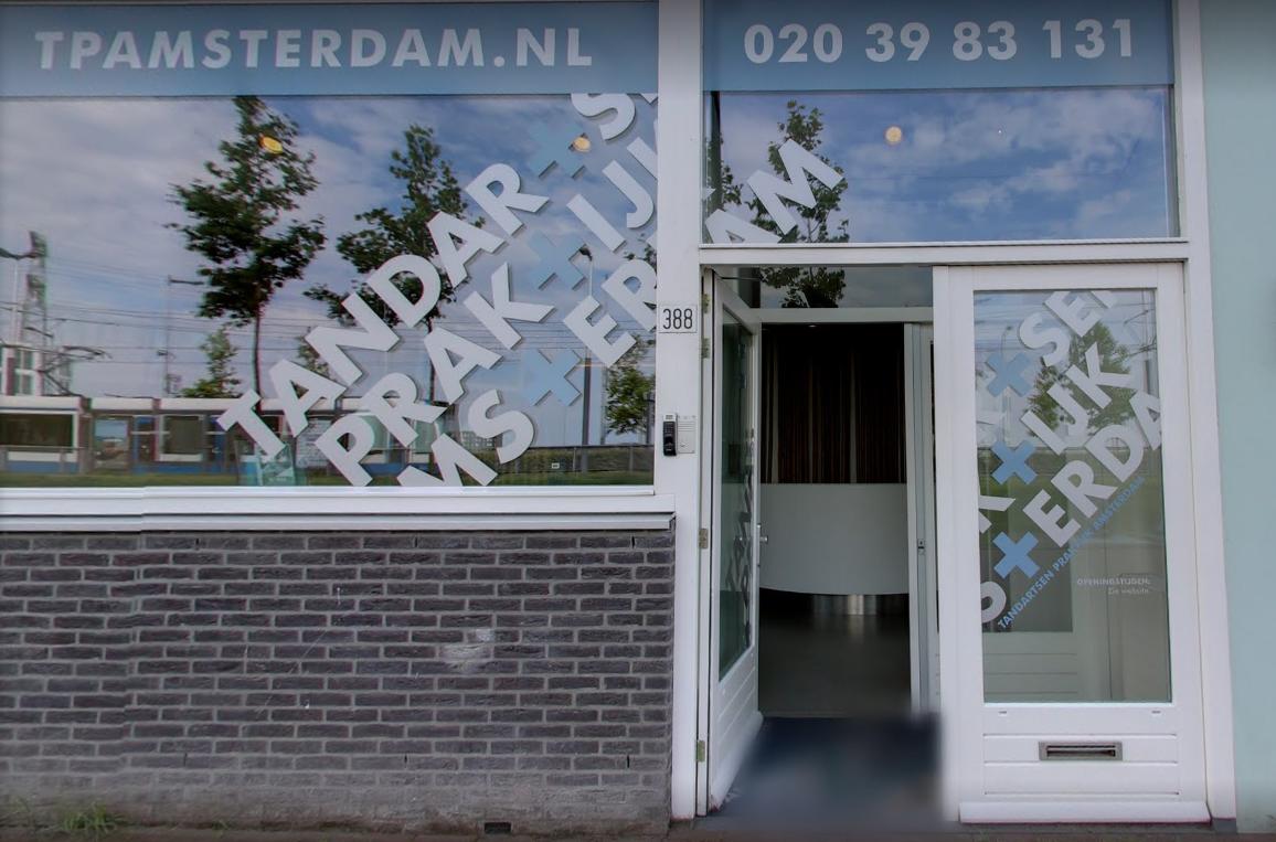 Vooraanzicht tandartspraktijk Amsterdam